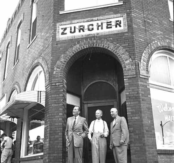 Walt, Albert, and Roy at the Zurcher building   DowntownMarceline.org